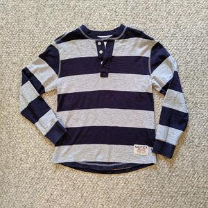 Boty's Nautica Long Sleeve Striped Henley